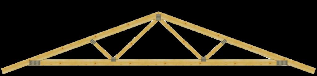 Двухскатные деревянные стропильные фермы на МЗП