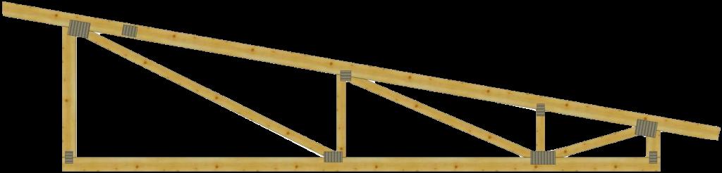 Односкатные деревянные стропильные фермы на МЗП